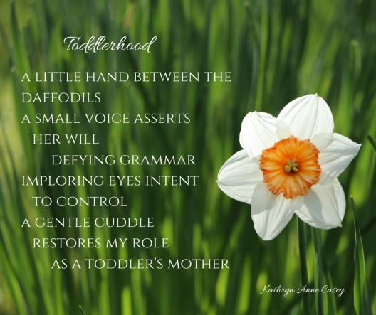 a little hand between the daffodilsa small voice asserts her willdefying grammarimploring eyes intent to controla gentle cuddle restores my roleas s toddler's mother.png